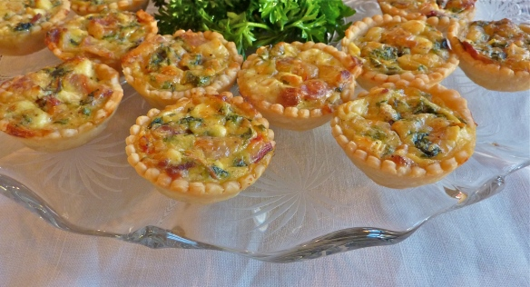 Chard, Cheese and Bacon Mini-Tarts
