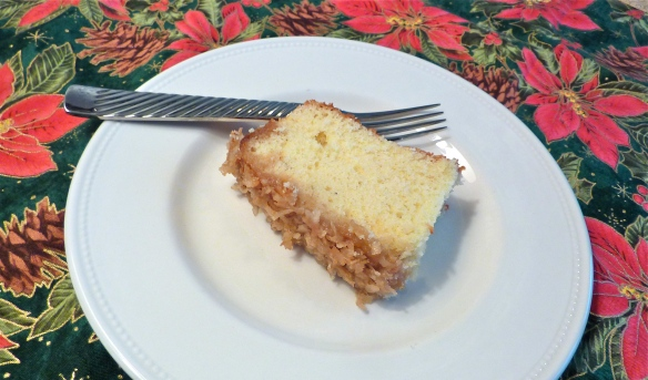 Slice of Drommekage (Danish Dream Cake)