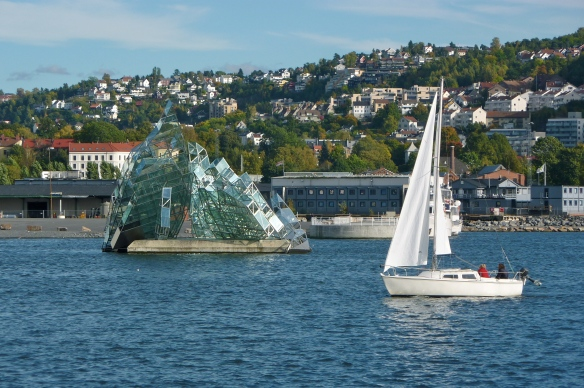 Leaving Oslo via the Oslofjord