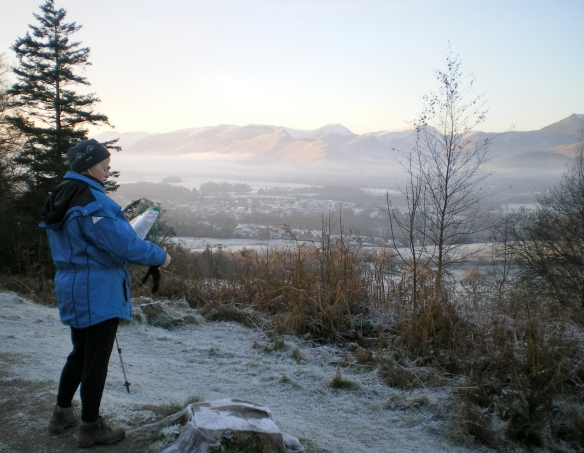 Reading the Map at the Start of Skiddaw Climb