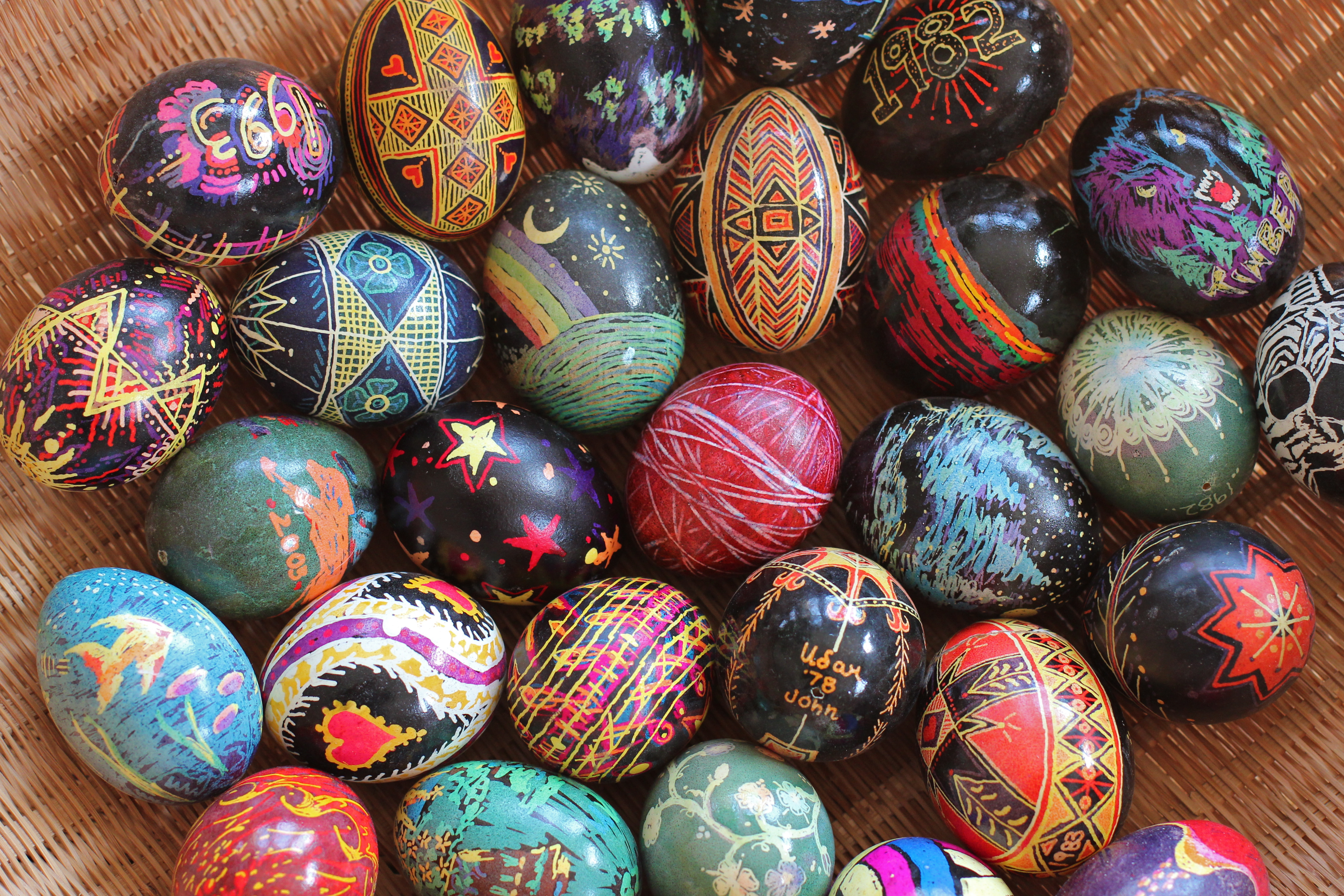 Painted Egg Art