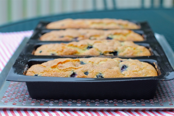 Blueberry Loaves in Demarle 4-Loaf Pan