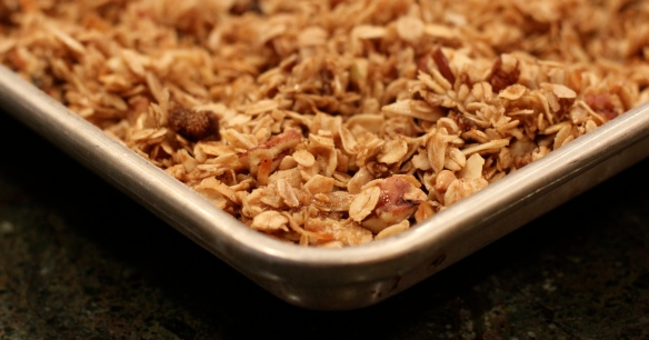 Granola in Sheet Pan (Jelly Roll Pan)